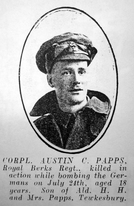 Corporal Austin Conrad Papps