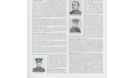 Entry in De Ruvengny Roll of Honour