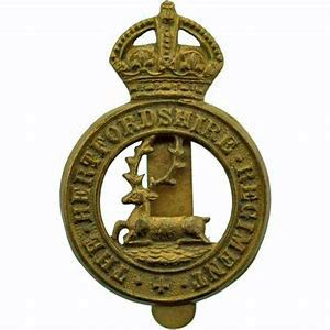 Hertfordshire Regiment WW1 Cap Badge