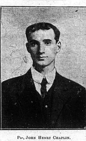 Pte John Henry Chaplin