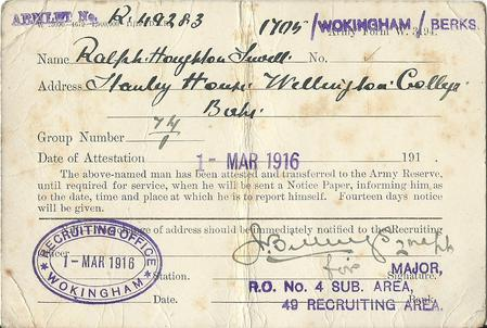 Attested and transferred to the Army reserve