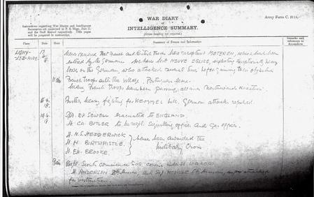 War Diary of 19th Hussars March 1918