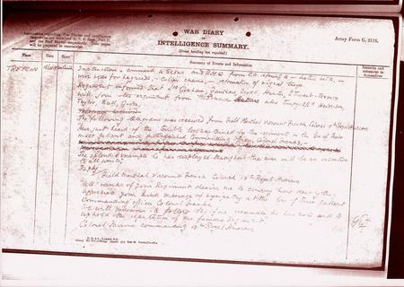 War Diary of 19th Hussars 18th Oct 1918