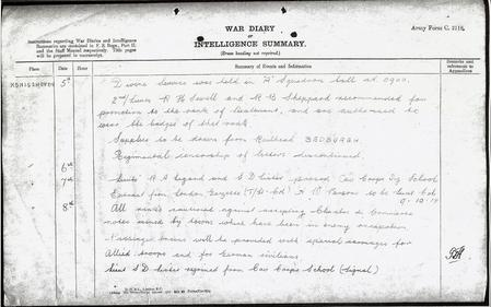 War Diary of 19th Hussars