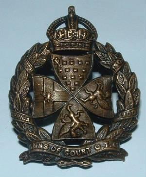 Inns of Court OTC WW1 Cap Badge