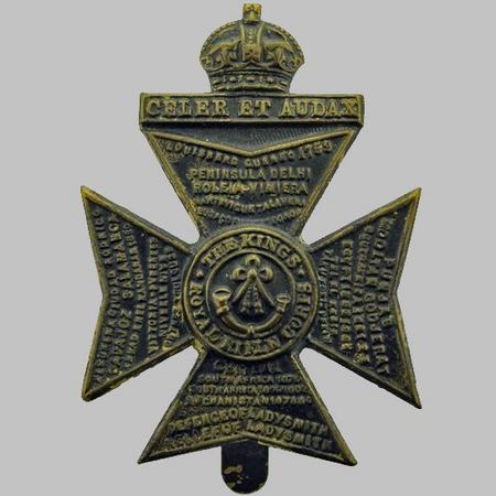 King's Royal Rifle Corps WW1 Cap Badge