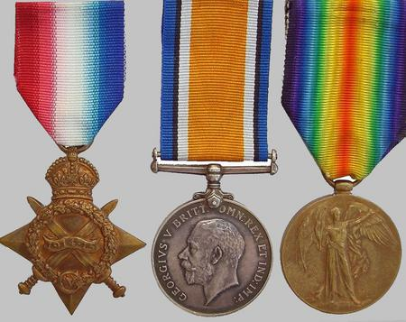 1914 15 Star, Br War Medal and Victory Medal