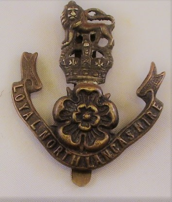 Loyal North Lancashire Regiment WW1 Cap Badge