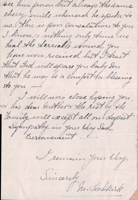 Condolence Letter 1 page 3
