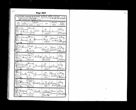 Baptism of Henry Dismon 27th February 1887
