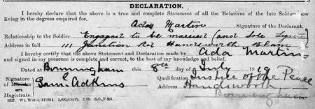 Herbert Edward Arkell was engaged to be married