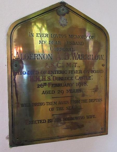 Profile picture for Algernon Aubrey Bakewell Warrilow