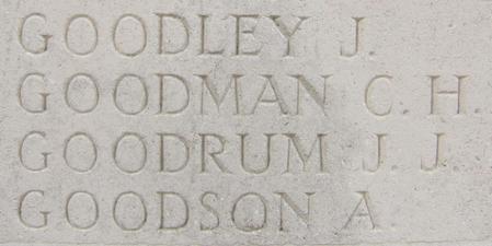 JJ Goodrum Thiepval Memorial