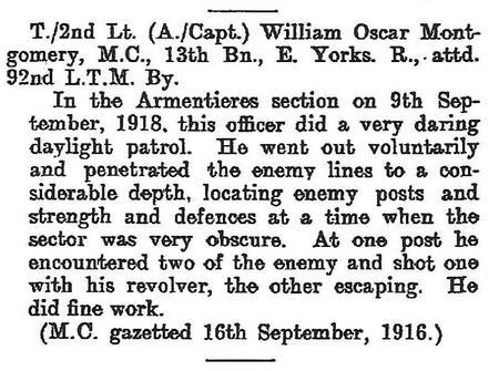 Gazette Citation: Bar to the Military Cross