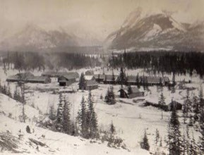 Mc Millan's Camp up in the Rocky Mountains c. 1894