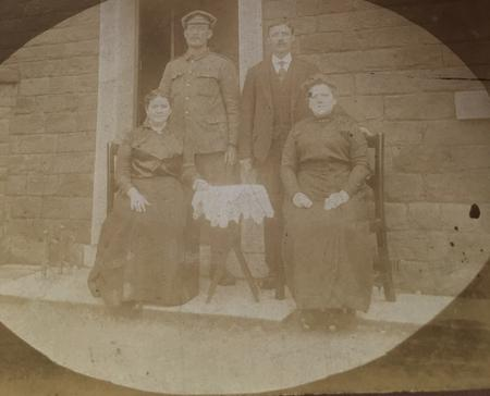 Lance Corporal Owen Bartley With Relatives