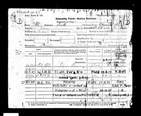 EM Smith Casualty Form