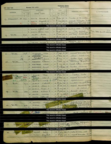 1939 England and Wales Register for Edward M Smith