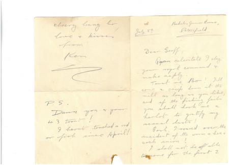Amusing letter between two brothers pp. 1 + 4