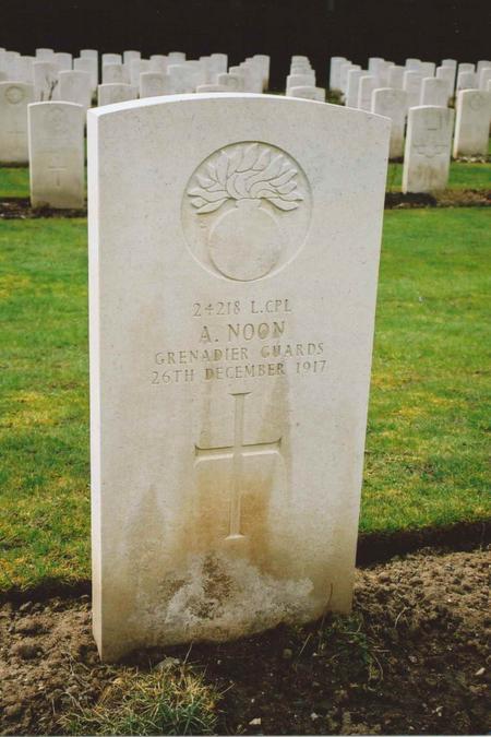 Grave of Amos Noon Grenadier Guards 24218