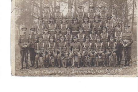Corporal J Woods Squad Grenadier Guards Nov 1915