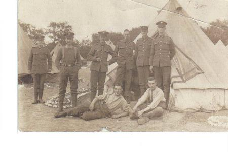 Amos Noon is standing far right in this photo