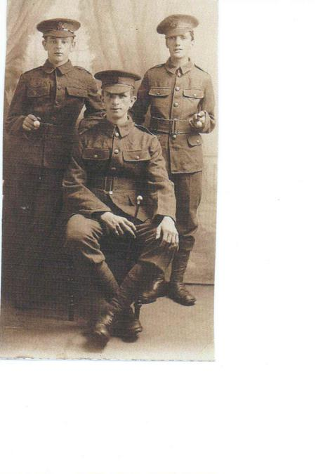 Amos Noon and two fellow soldiers