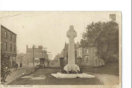 The War Memorial in Heanor,Derbyshire