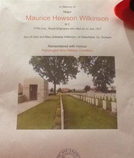 Profile picture for Maurice Hewson Wilkinson