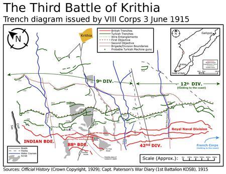 Third Battle of Krithia map plan 3rd June
