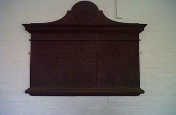Plaque in Elmley Castle school