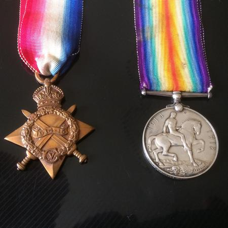 Medals awarded posthumously to Ernest Heyworth