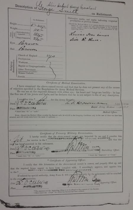 Army Reserve (Special Reserve) Form B59 P2