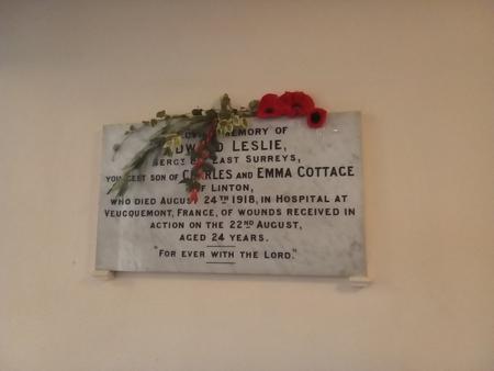 Memorial, Linton Free Church