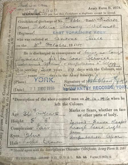 Frederic Wilmot army papers