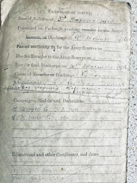 Frederic Wilmot army papers 3