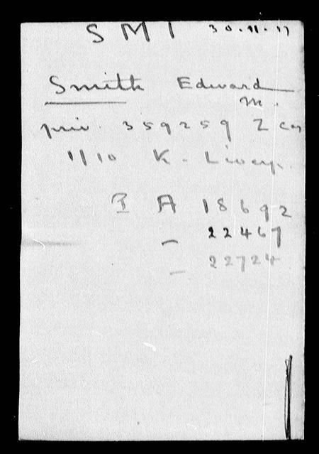 EM Smith POW record 2