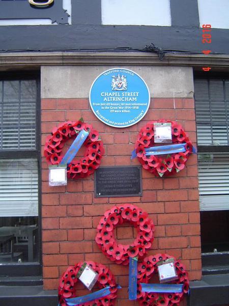 Chapel St Altrincham wall plaque