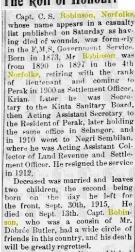 Notice of Death Malaya Tribune