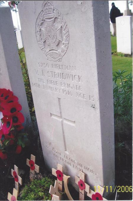 Grave of V J Strudwick