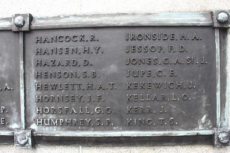 Name on Singapore Cenotaph