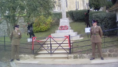 Refurbished Birling War Memorial