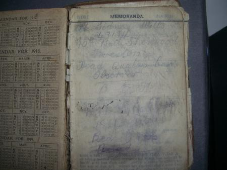 Thomas Witts' Diary page