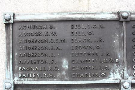 Name on Singapore Cenotaph