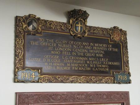 Memorial Plaque at St Bartholomew the Less, London