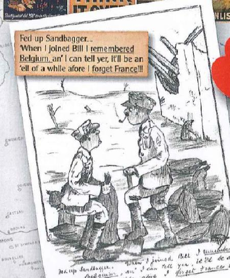 Drawing made by Noel whilst on active service