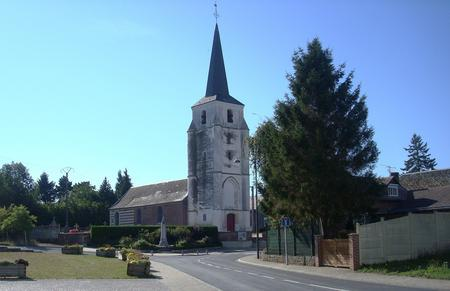 The church in Audencourt
