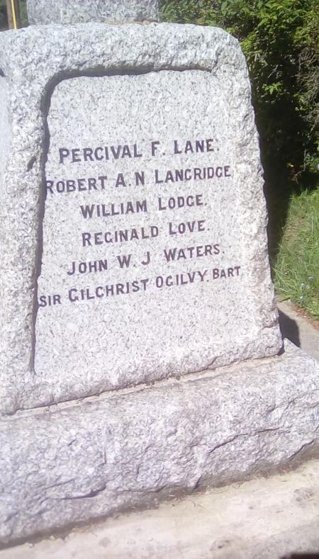 Birling War Memorial inscription side 2
