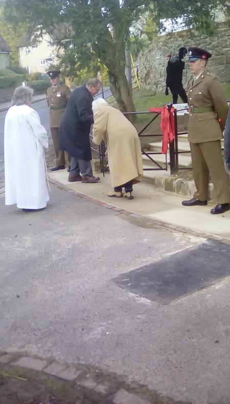 Opening of refurbished Birling War Memorial