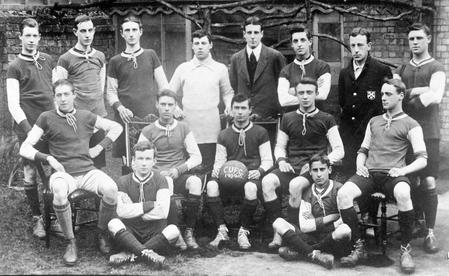 Jack WEBSTER, back row, 3rd from right, with the C